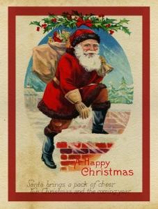 Weihnachtspostkarte aus dem viktorianischen England (Bild: Public Domain)