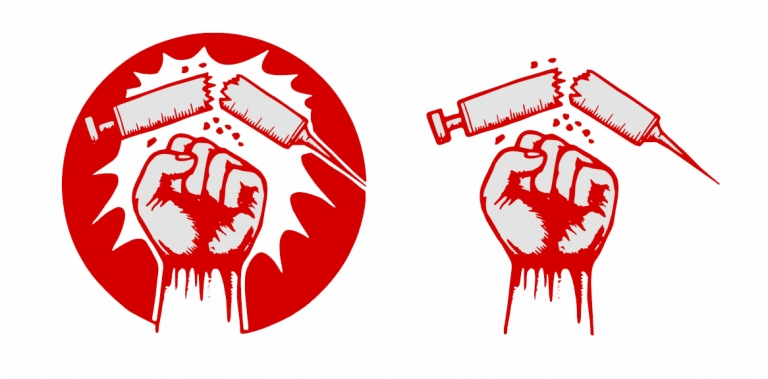 Ikonogramme der Anti-Drogen-Bewegung